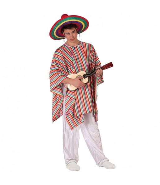 Disfarce Mexicano Multicolor adulto divertidíssimo para qualquer ocasião