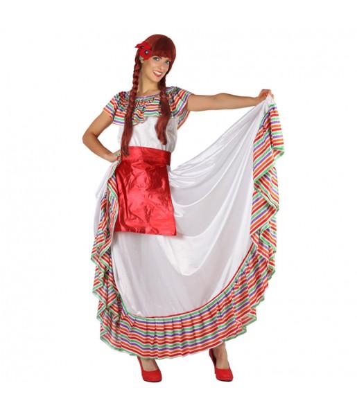 Disfarce original Mexicana Multicolor mulher ao melhor preço
