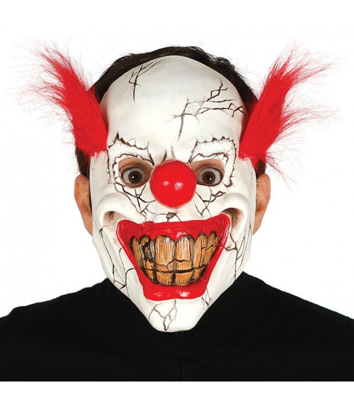 Máscara palhaço assassino para completar o seu fato Halloween e Carnaval