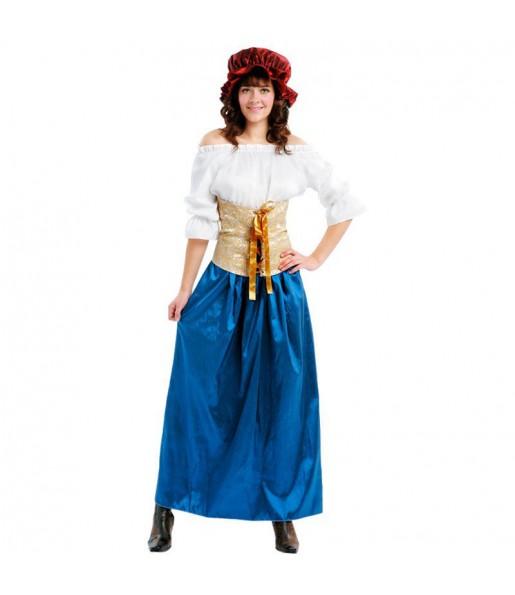 Disfarce original Donzela medieval mulher ao melhor preço