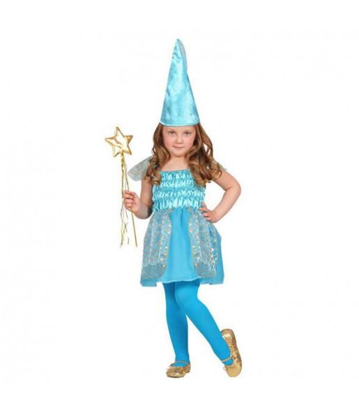 Disfarce Fada Azul menina para que eles sejam com quem sempre sonharam