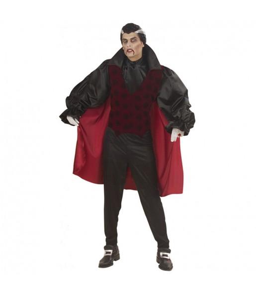 Fato de Vampiro gótico vermelho adulto para a noite de Halloween