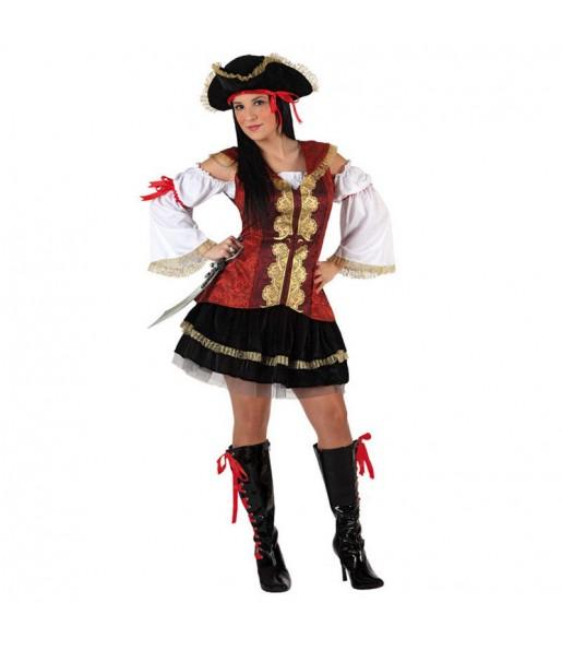 Disfarce original Pirata deluxe mulher ao melhor preço