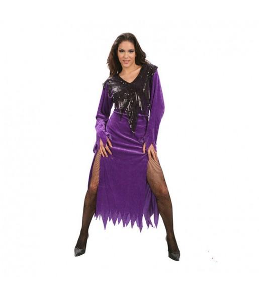 Fato de Bruxa sexy mulher para a noite de Halloween