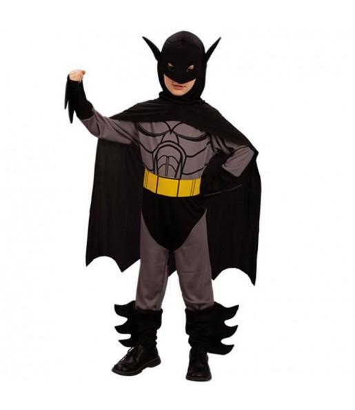 Disfarce super-her?i de morcego menino para deixar voar a sua imagina??o