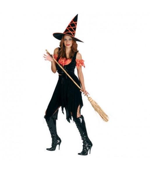 Fato de Bruxa halloween mulher para a noite de Halloween
