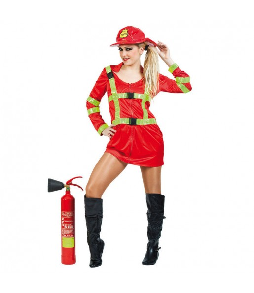 Disfarce original Bombeira vermelha mulher ao melhor preço
