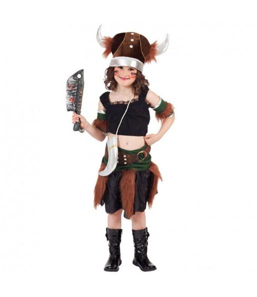 Disfarce Viking deluxe menina para que eles sejam com quem sempre sonharam