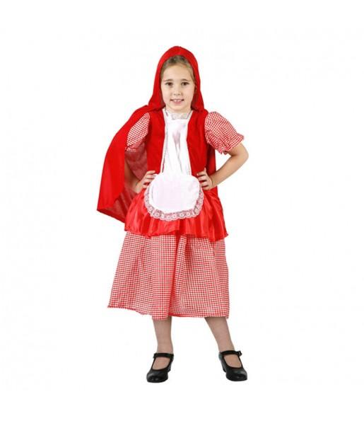 Disfarce Capuchinho Vermelho pequenina menina para que eles sejam com quem sempre sonharam