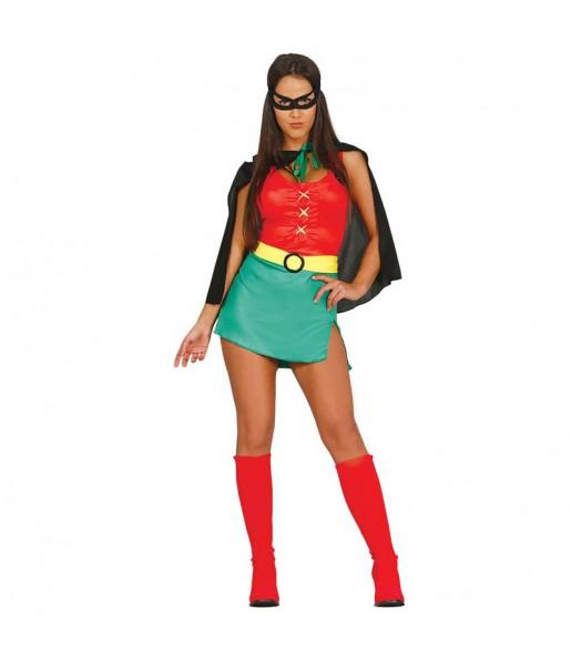 Disfarce original Super Heroína Robin mulher ao melhor preço