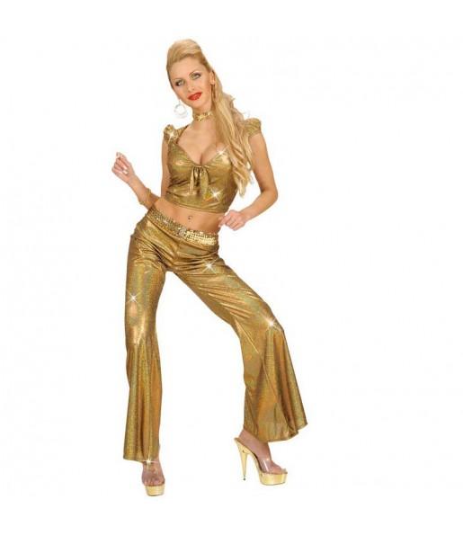 Disfarce original Top Holográfico Ouro mulher ao melhor preço