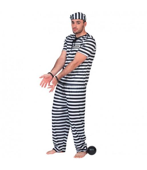 Disfarce Prisioneiro adulto divertidíssimo para qualquer ocasião