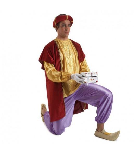 Disfarce Pajem do Rei Balthazar adulto divertidíssimo para Natal
