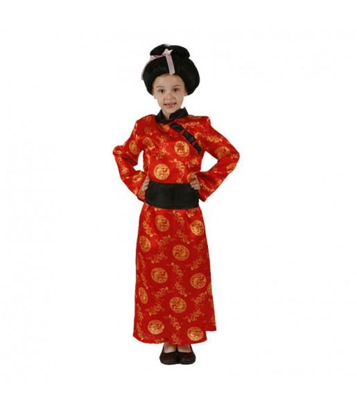 Disfarce Chinesa vermelha menina para que eles sejam com quem sempre sonharam