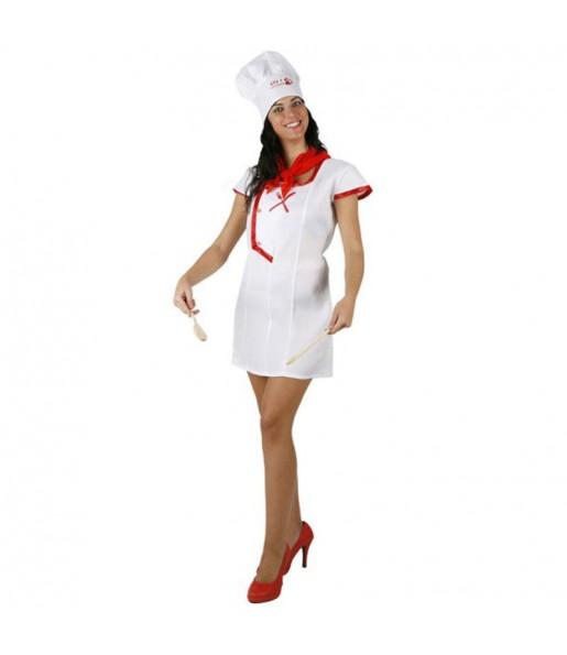 Disfarce original Cozinheira chef mulher ao melhor preço