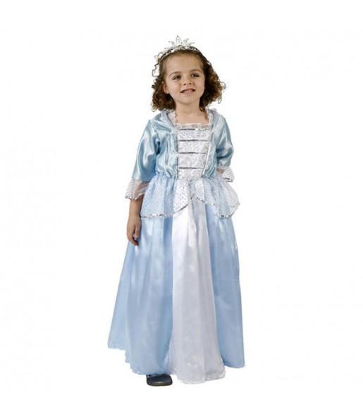 Disfarce Princesa Azul de conto menina para que eles sejam com quem sempre sonharam