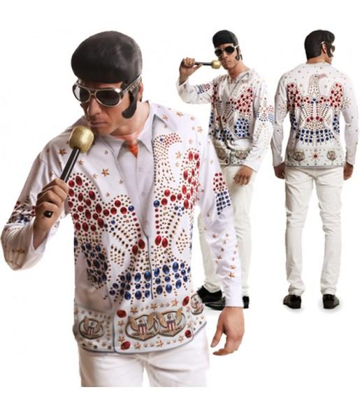 Disfarce Camisola Elvis Presley adulto divertidíssimo para qualquer ocasião