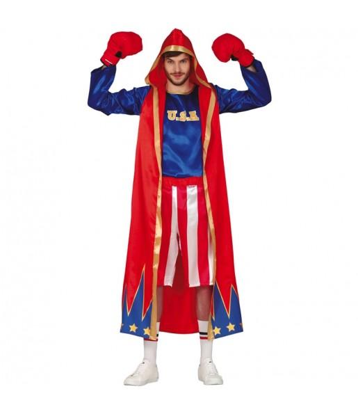 Fato de Boxeador Americano para homem