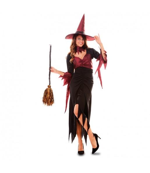 Fato de Bruxa mulher para a noite de Halloween