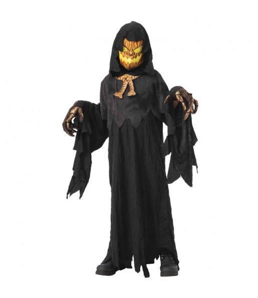 Disfarce Halloween Abóbora possuída para meninos para uma festa do terror