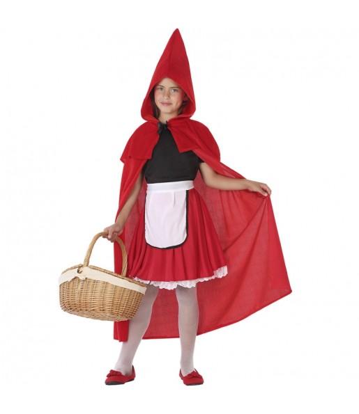 Disfarce Chapeuzinho Vermelho menina para que eles sejam com quem sempre sonharam