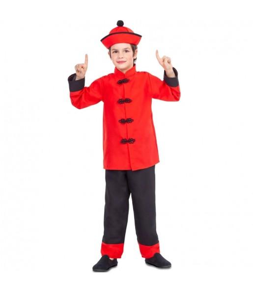 Disfarce Chinês Dragão Vermelho menino para deixar voar a sua imaginação