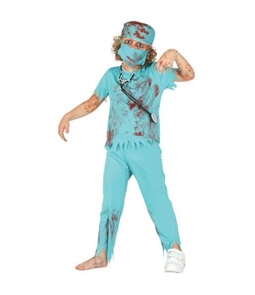 Disfarce Médico Zombie menino para deixar voar a sua imaginação