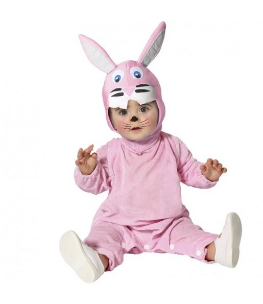 Fato de Coelho cor-de-rosa para bebé