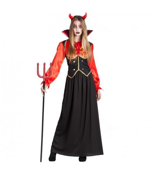 Fato de Diaba Inferno mulher para a noite de Halloween