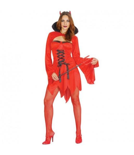 Fato de Diaba sexy mulher para a noite de Halloween