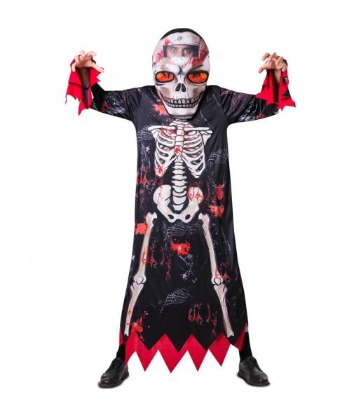 Fato de Esqueleto cabeçudo adulto para a noite de Halloween