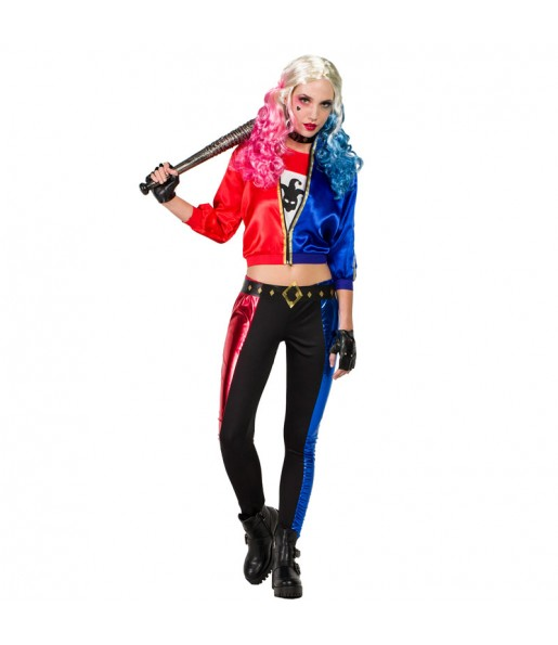 Disfarce original Harley Quinn mulher ao melhor preço
