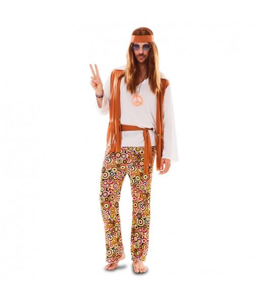 Disfarce Hippie Multicolor adulto divertidíssimo para qualquer ocasião
