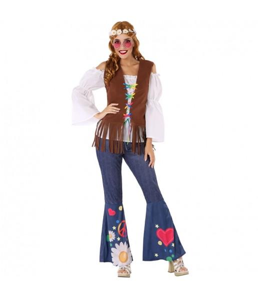 Disfarce original Hippie anos Sessenta mulher ao melhor preço