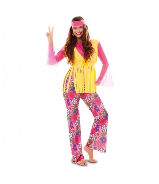 Disfarce original Hippie Multicolor mulher ao melhor preço