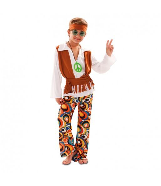 Disfarce Hippie Multicolor menino para deixar voar a sua imaginação