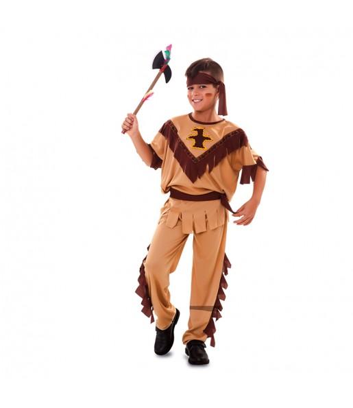 Disfarce Índio Caçador menino para deixar voar a sua imaginação
