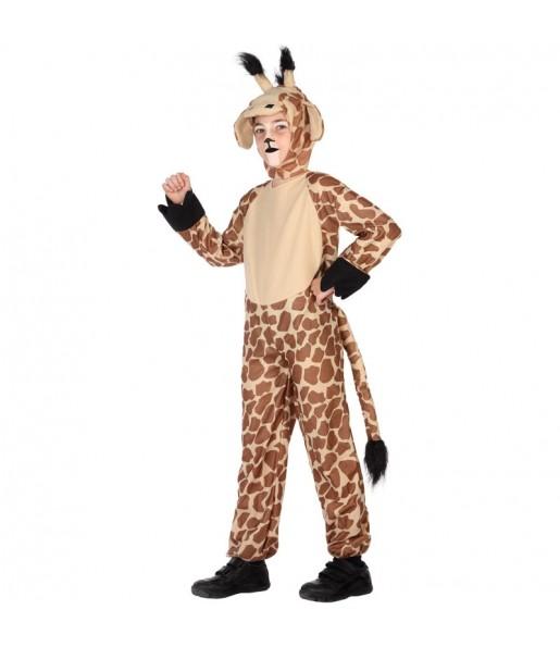 Disfarce Girafa menino para deixar voar a sua imaginação