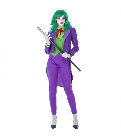 Fato de Joker Vilã mulher para a noite de Halloween