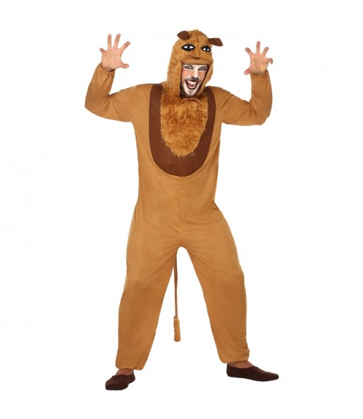 Disfarce Leão marrom adulto divertidíssimo para qualquer ocasião