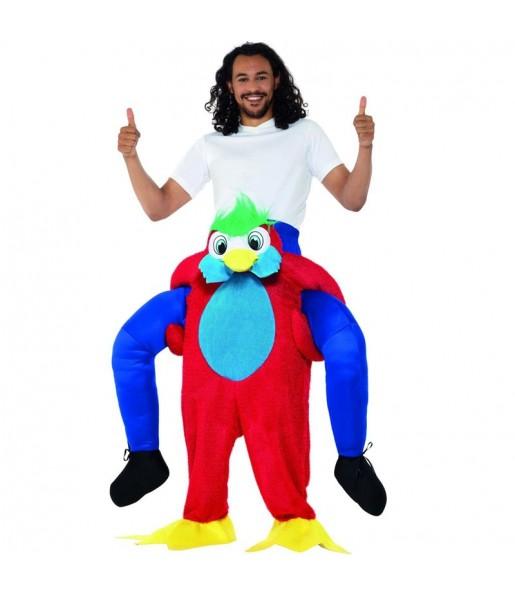 Disfarce Ride On Papagaio adulto divertidíssimo para qualquer ocasião