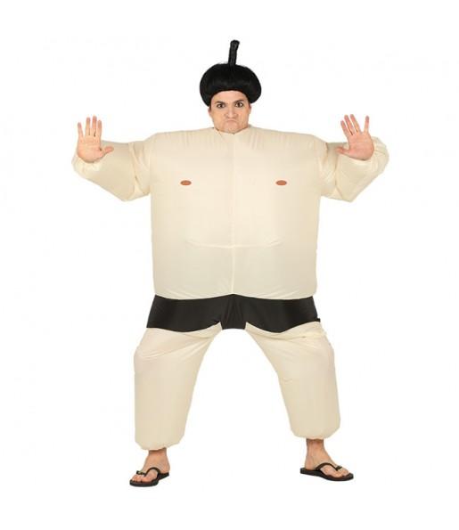 Disfarce Lutador de Sumo insuflável adulto divertidíssimo para qualquer ocasião