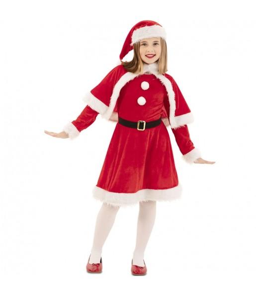 Fato de Mãe Natal vermelha para menina