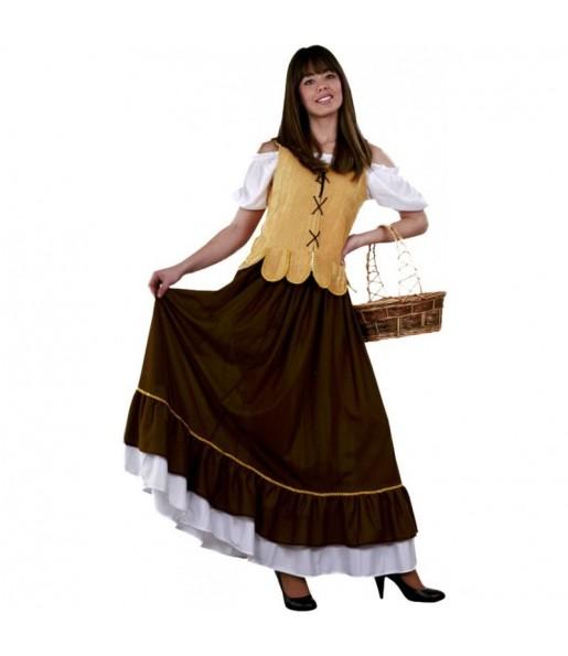 Disfarce original Empregada de mesa medieval mulher ao melhor preço