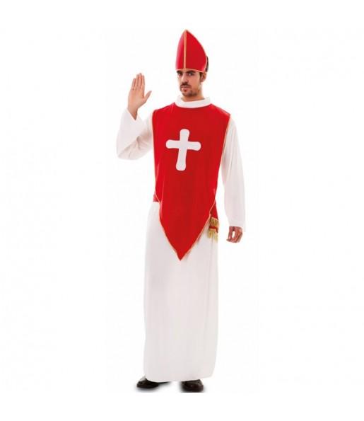 Disfarce Bispo Vermelho adulto divertidíssimo para qualquer ocasião