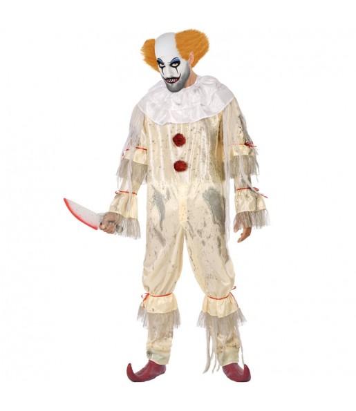 Fato de Palhaço sangrento adulto para a noite de Halloween