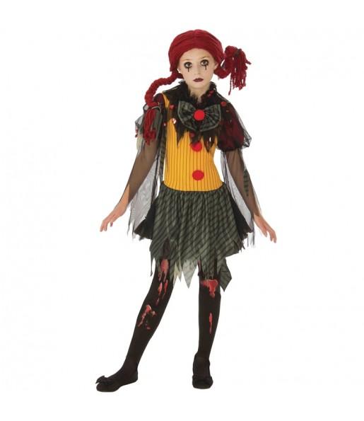 Disfarce Halloween Palhaço zombie meninas para uma festa Halloween
