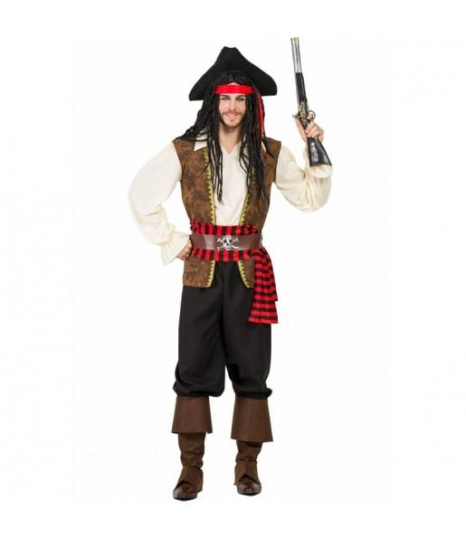 Fato de Pirata Alto-mar para homem