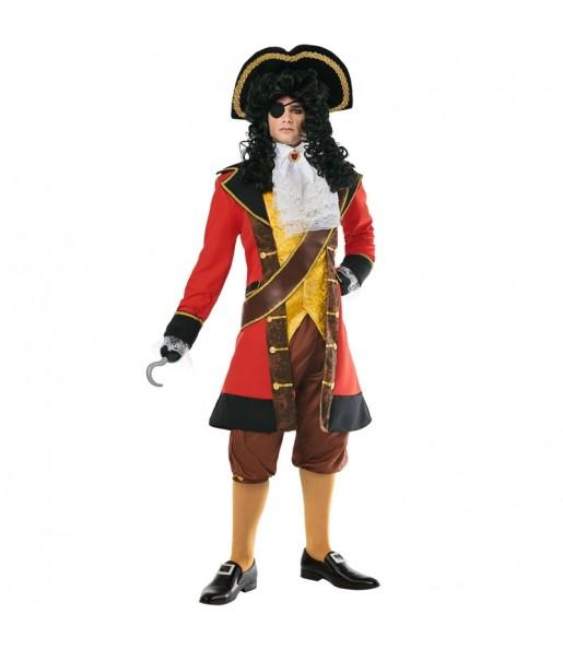 Fato de Pirata Capitão Gancho para homem