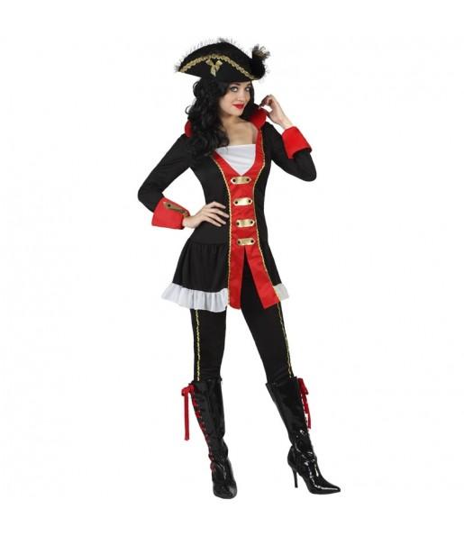 Fato de Pirata do oceano para mulher